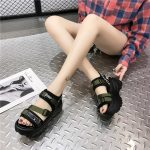 Thick Platform Sandals with Canvas Buckles 20