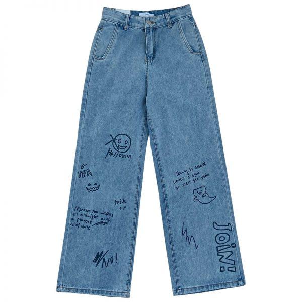 Harajuku Streetwear High Waist Jeans  5