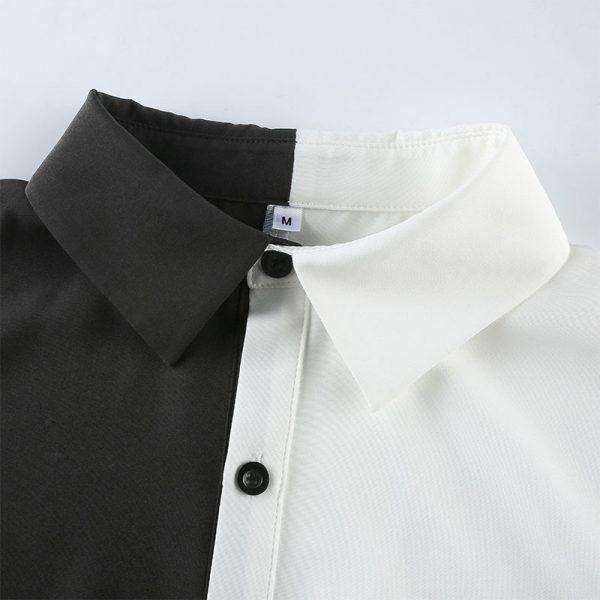 Two-tone max length T-shirt  6