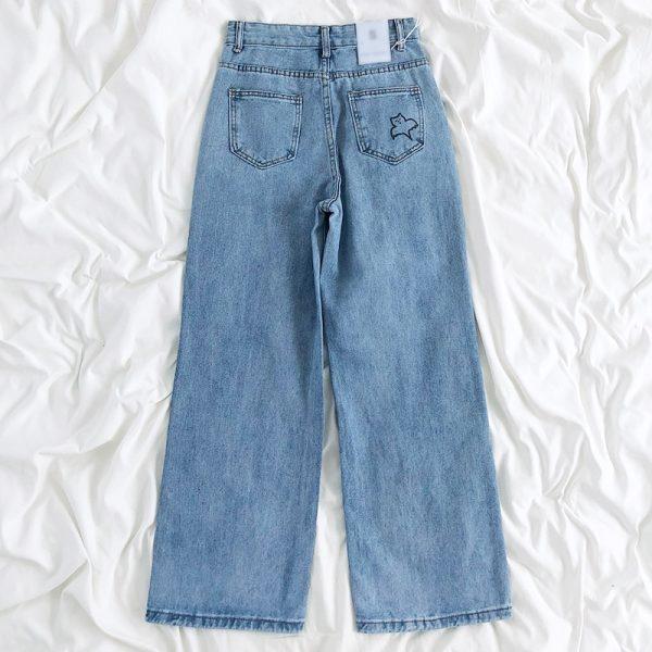 Harajuku Streetwear High Waist Jeans  1