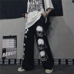 Harajuku Loose pants with Japanese anime print 4