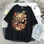 Harajuku T-Shirts with anime prints My Neighbor Totoro and Spirited away  6