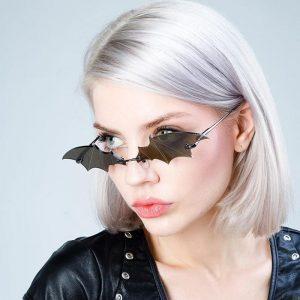 Rimless Bat Shaped Sunglasses 1
