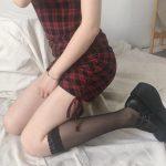 Kawaii transparent high knee socks with lace top 4