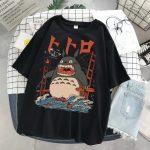 Harajuku T-Shirts with anime prints My Neighbor Totoro and Spirited away  3