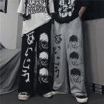 Harajuku Loose pants with Japanese anime print 5