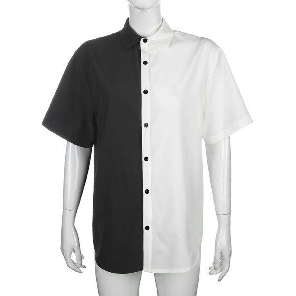 Two-tone max length T-shirt  4