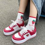 Kawaii Heart strawberry College Style Sneakers 8