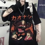 Harajuku T-Shirts with anime prints My Neighbor Totoro and Spirited away  2