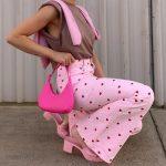 Y2K Pink Heart Printed Pants 3
