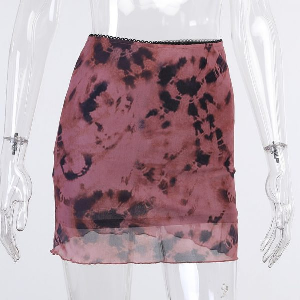 Y2K Aesthetics Mesh Double Layer Mini Skirt   2