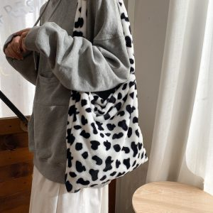 Cow Pattern Tote Handbag 1