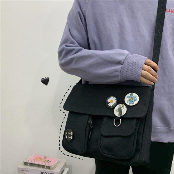 Canvas Cross body Shoulder Bag  2