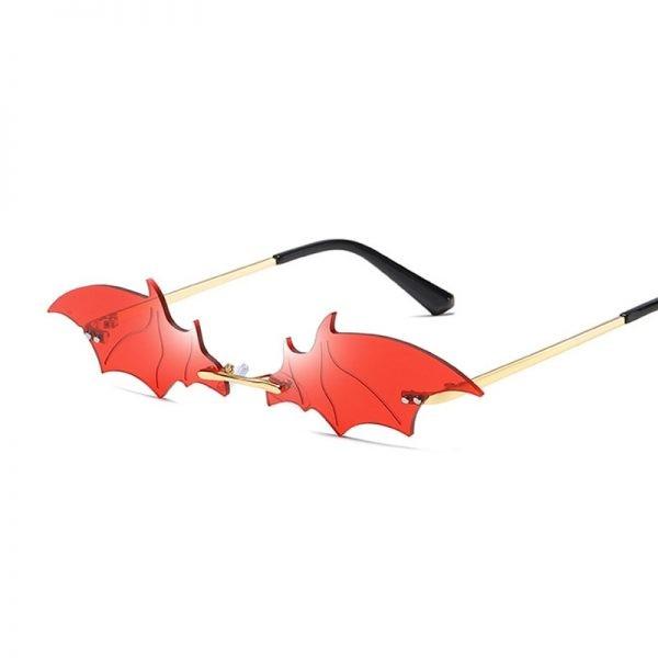 Rimless Bat Shaped Sunglasses 5