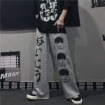 Harajuku Loose pants with Japanese anime print 2