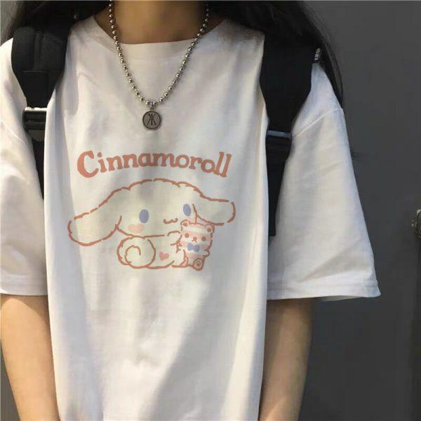Harajuku T-shirt with Cinnamoroll Print 4