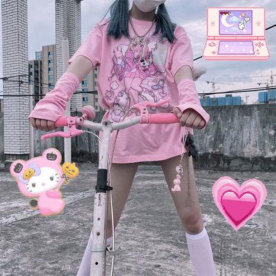 Harajuku Aesthetic Loose T-shirt with Anime print 3
