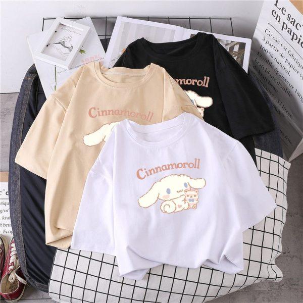 Harajuku T-shirt with Cinnamoroll Print 2