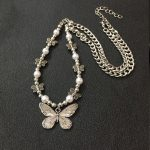 Indie Aesthetic Butterfly Pendant Necklace  1