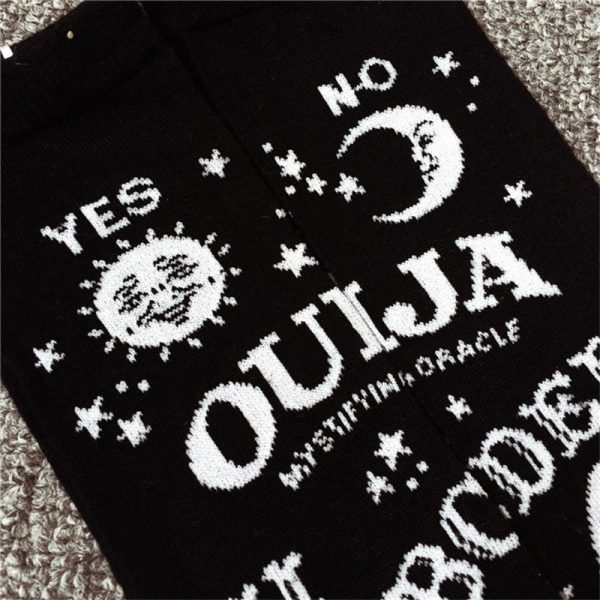 Over The Knee Socks with Ouija Board Pattern  5