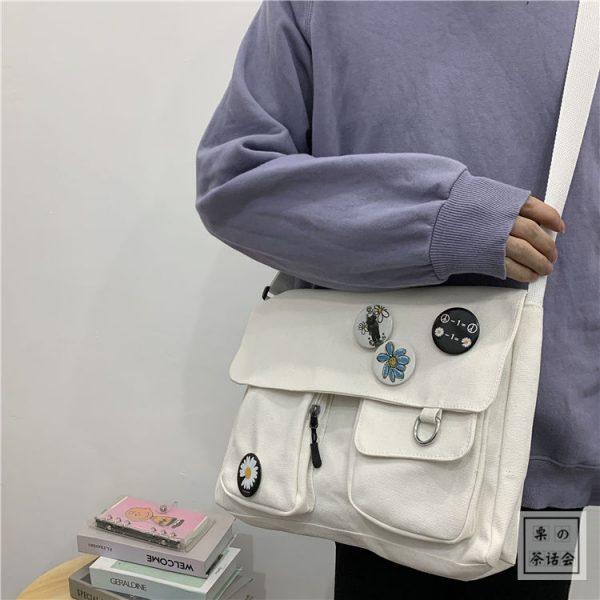 Canvas Cross body Shoulder Bag  5