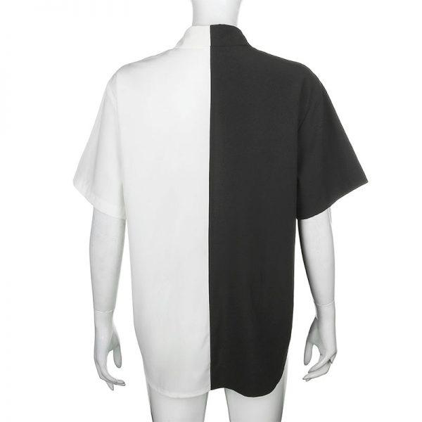 Two-tone max length T-shirt  5