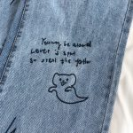 Harajuku Streetwear High Waist Jeans  2