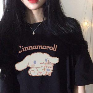 Harajuku T-shirt with Cinnamoroll Print 1