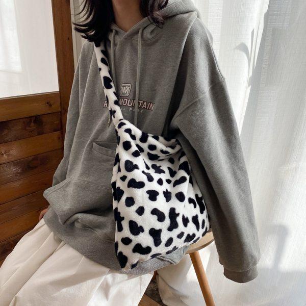 Cow Pattern Tote Handbag 3