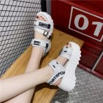 Thick Platform Sandals with Canvas Buckles 26