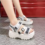 Thick Platform Sandals with Canvas Buckles 23