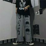 Harajuku Loose pants with Japanese anime print 6