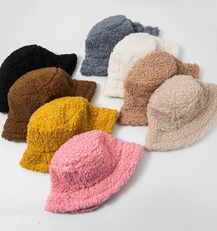 Harajuku Faux Fur Winter Bucket Hat 41