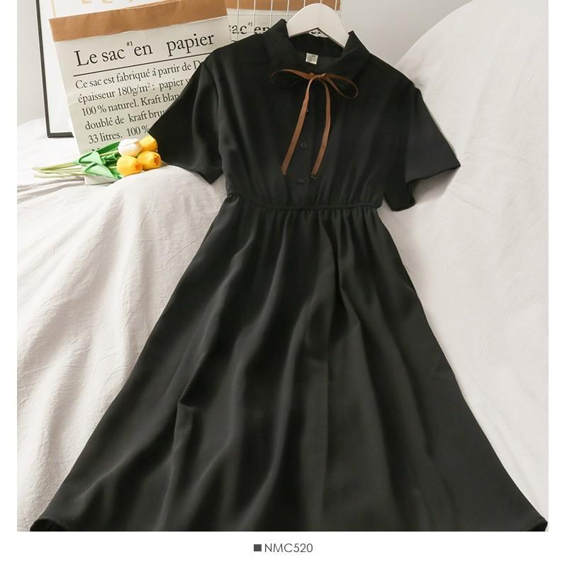Harajuku Soft girl Chiffon  Dress with Bow 41