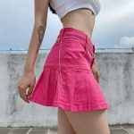 Y2K Denim Mini Pleated Skirt  5