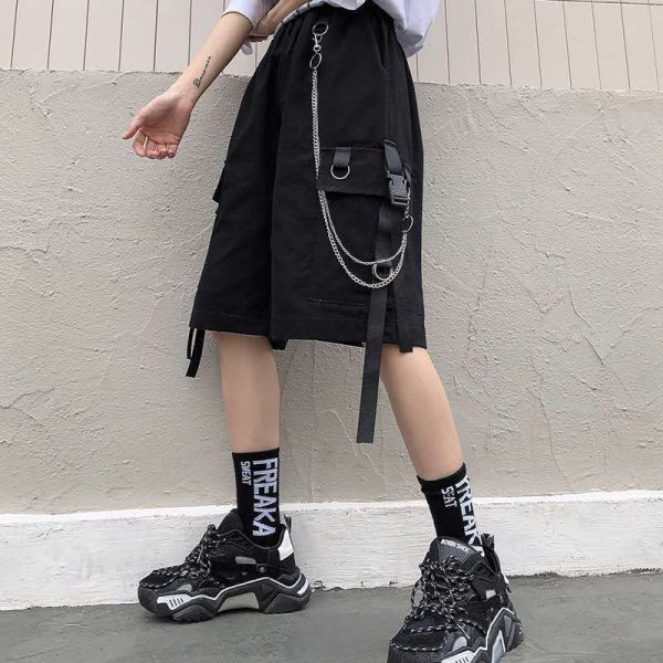 Eboy Egirl Shorts with straps and chain 3