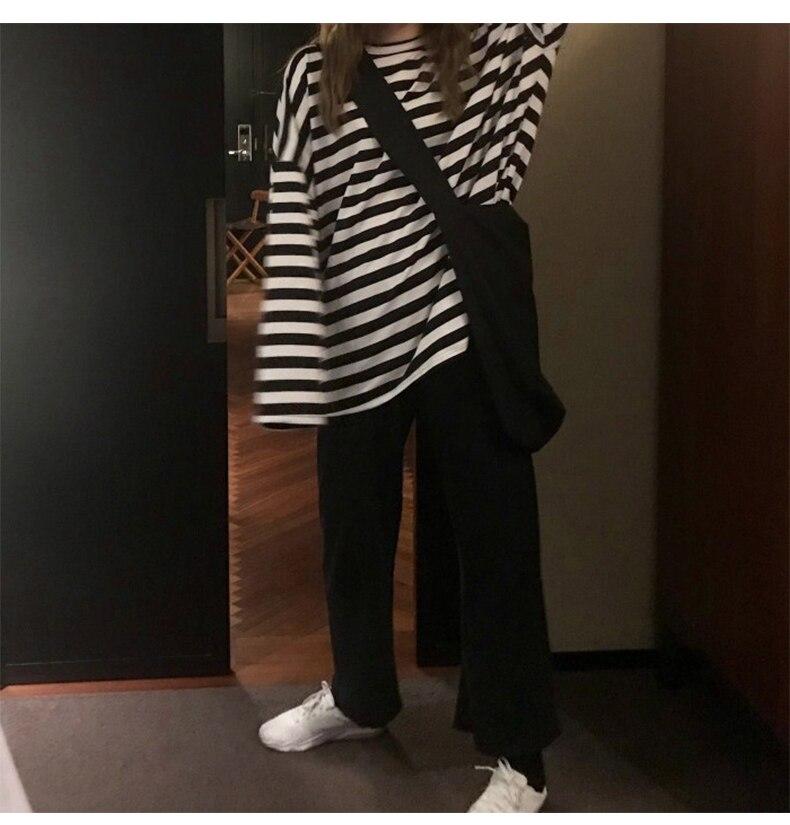 Egirl Harajuku Oversized Striped T-shirt 42