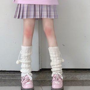 Knit Loose Leg Warmers 1