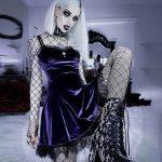Gothic Vintage Velvet Dress with Cross 10