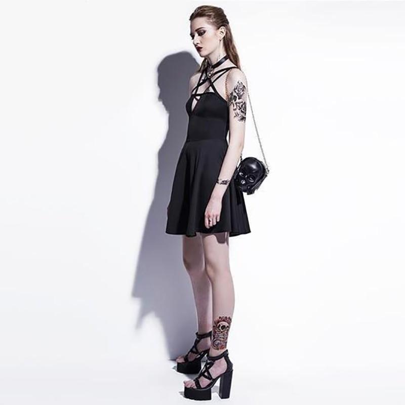 Egirl Gothic Pentagram Strap Dress 59