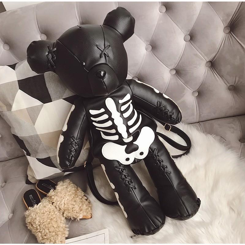 Egirl Eboy Gothic Skeleton Bear Backpack 45