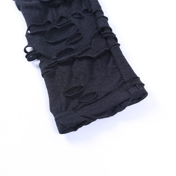 Egirl Gothiс Punk Mini Dress with holes 6