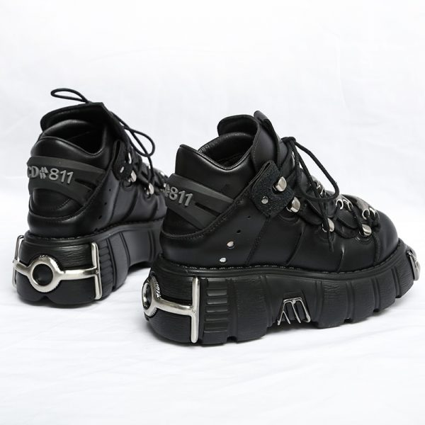Punk Style Women Sneakers with Metal Decor 4