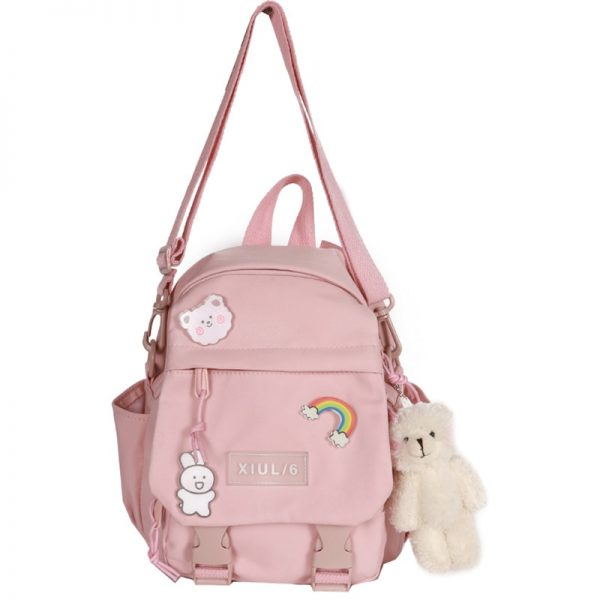 Soft girl small cute Backpack 6