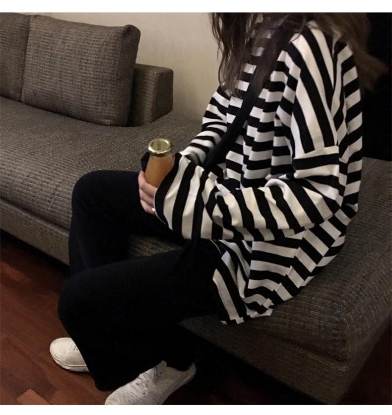 Egirl Harajuku Oversized Striped T-shirt 41