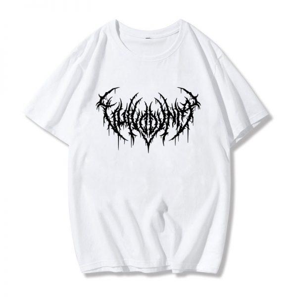 Egirl Gothic print T-shirt 7