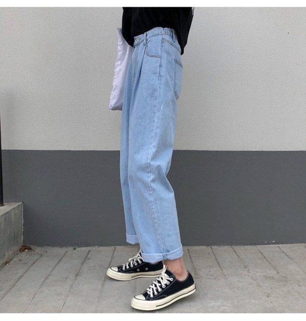 Egirl Y2K High Waist Wide Leg Jeans 10