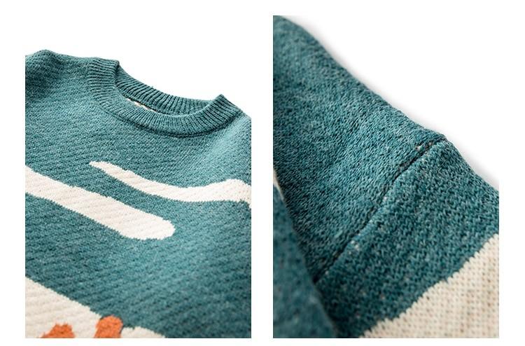 Eboy Egirl Y2K Vintage Cows print Sweaters 47