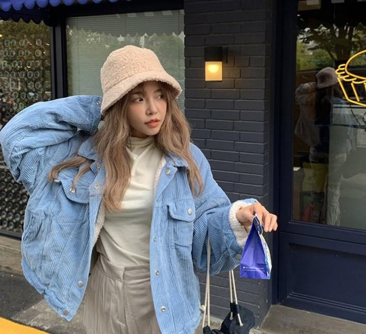 Harajuku Faux Fur Winter Bucket Hat 46