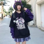 Harajuku kawaii anime print hoodie 4